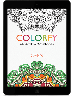 Colorfy Landing App Colortherapy