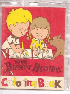 buster brown coloring book