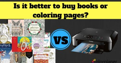 Is it better to buy books or coloring pages?