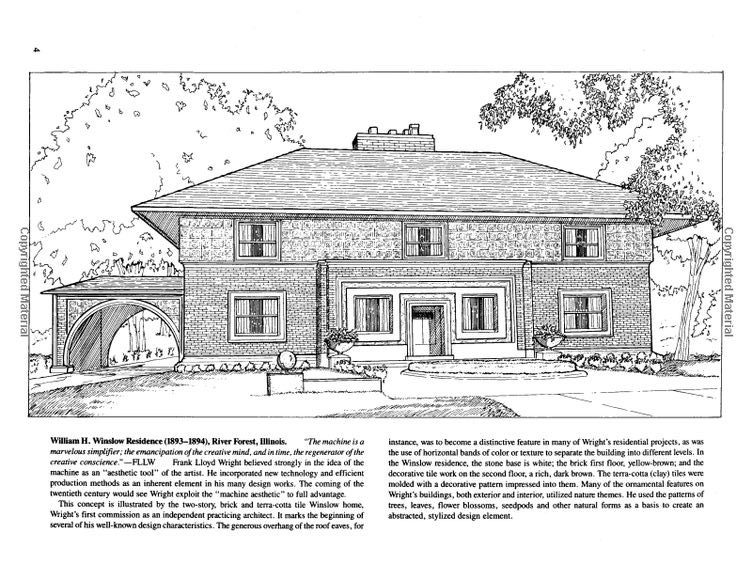 Famous buildings of frank lloyd wright coloring book for Frank lloyd wright coloring pages